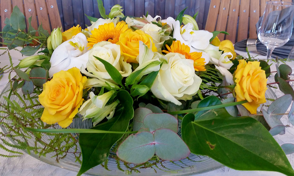 Fløtern blomsteroppsats